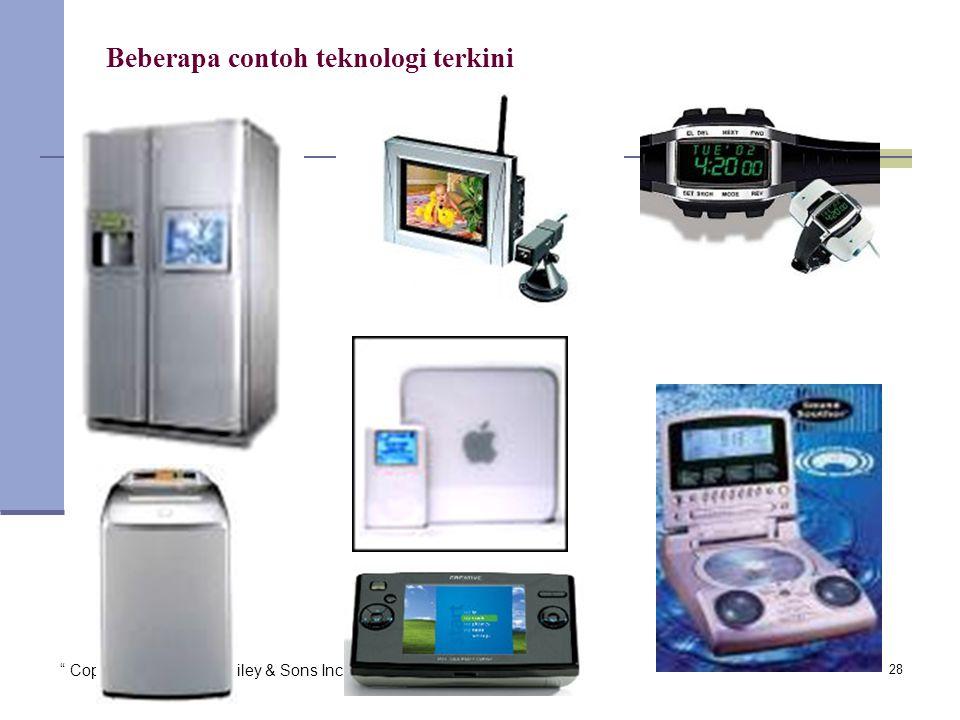 Copyright 2005 John Wiley & Sons Inc. TG 128 Beberapa contoh teknologi terkini