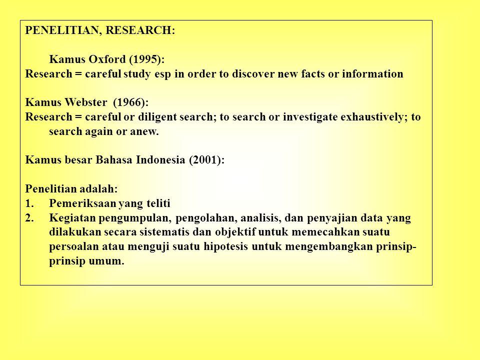 Beberapa ciri khusus masalah penelitian: 1.Masalah penelitian hendaknya dapat mencerminkan kebutuhan yang dirasakan 2.Masalah penelitian merupakan kenyataan yang betul-betul ada yang merupakan hasil dari proses identifikasi masalah 3.Masalah penelitian relevan, dalam arti merupakan permasalahan yang betul-betul baru dan dapat dilaksanakan dengan baik dan benar.