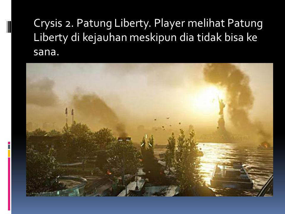 Crysis 2. Patung Liberty.