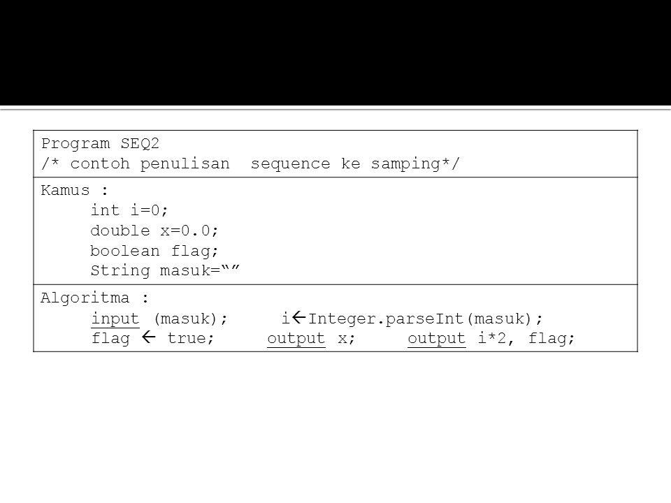 Program tegangan /* program untuk menghitung tegangan, v=i*r */ Kamus : int v=0, i=0, r=0; String arus, tahanan= ; Algoritma : Input arus i  integer.parseInt(arus); Input tahanan r  integer.parseInt(tahanan); v=i*r; Output v