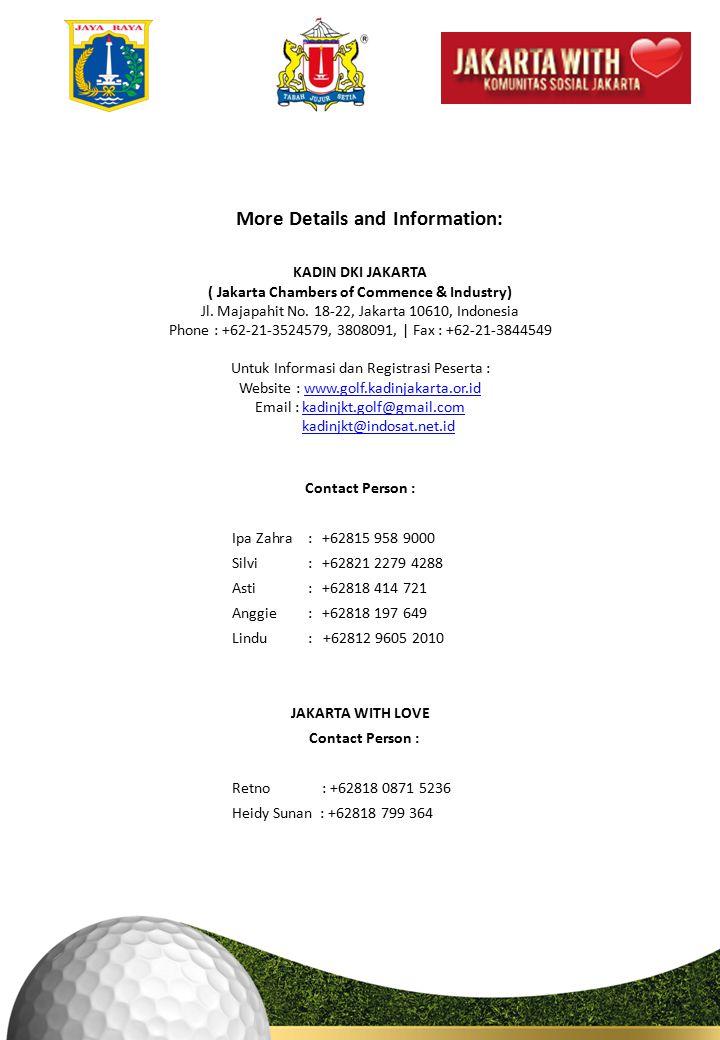 KADIN DKI JAKARTA ( Jakarta Chambers of Commence & Industry) Jl.