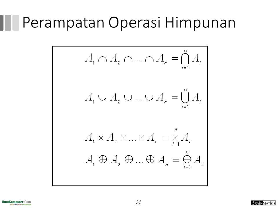 35 Perampatan Operasi Himpunan