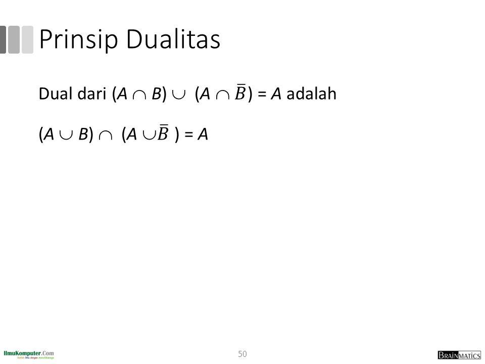 Prinsip Dualitas 50