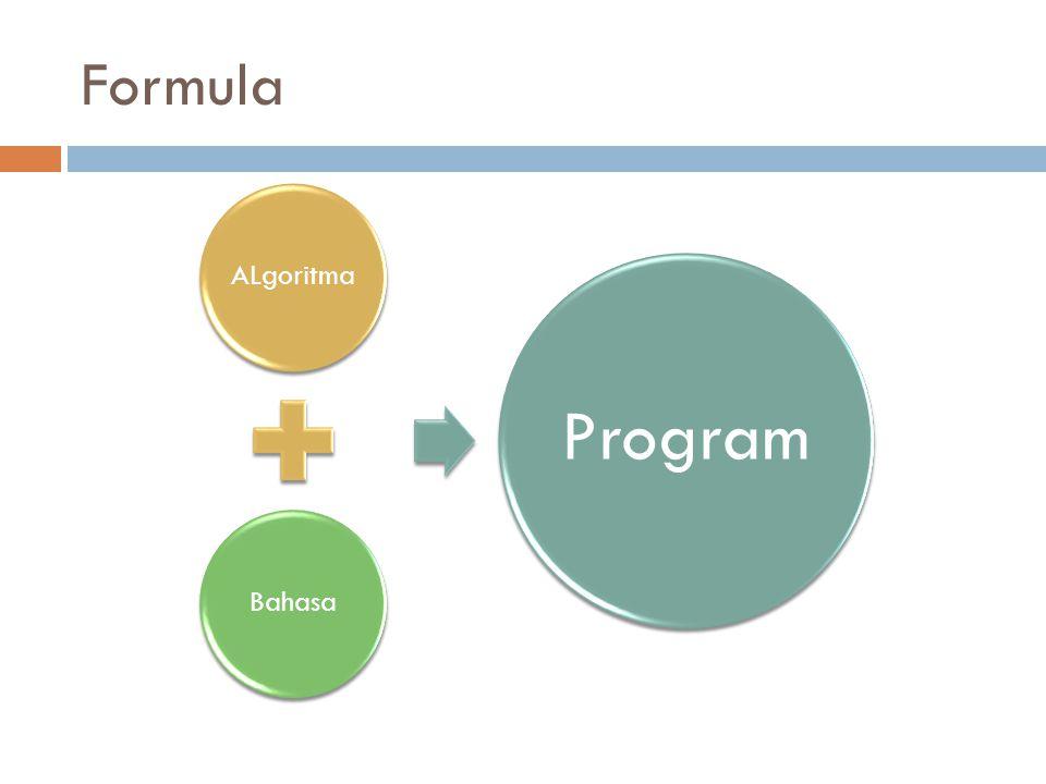 Formula ALgoritmaBahasa Program