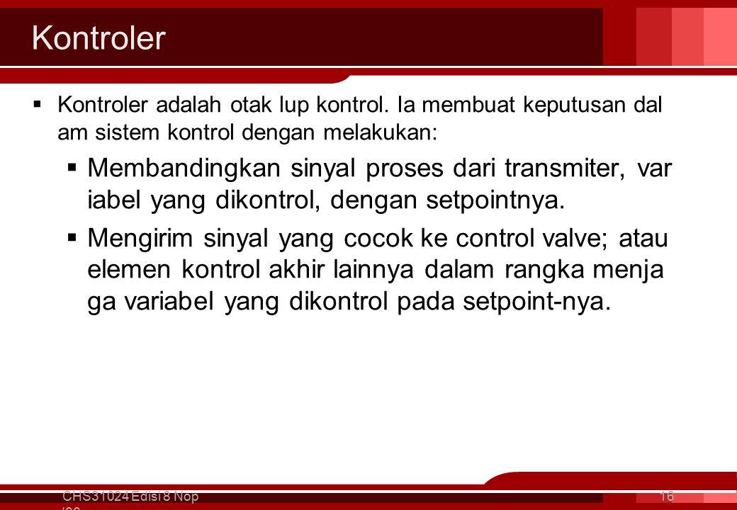 Kontroler  Kontroler adalah otak lup kontrol.