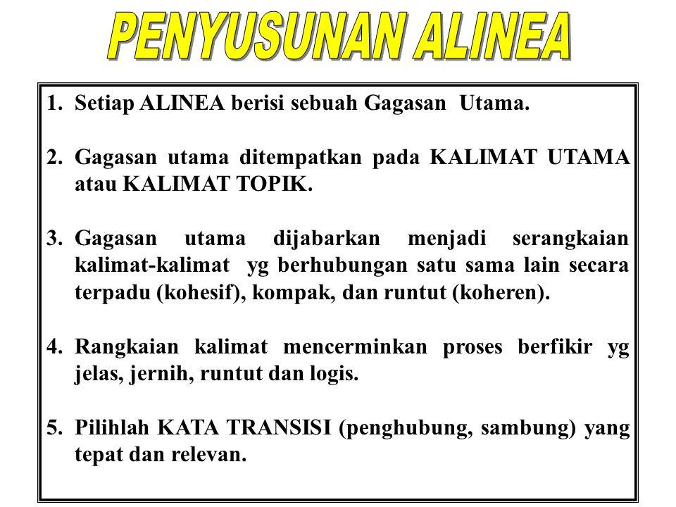 1. Kaidah-kaidah bahasa Indonesia: a. Fonologi (tata-bunyi) b.
