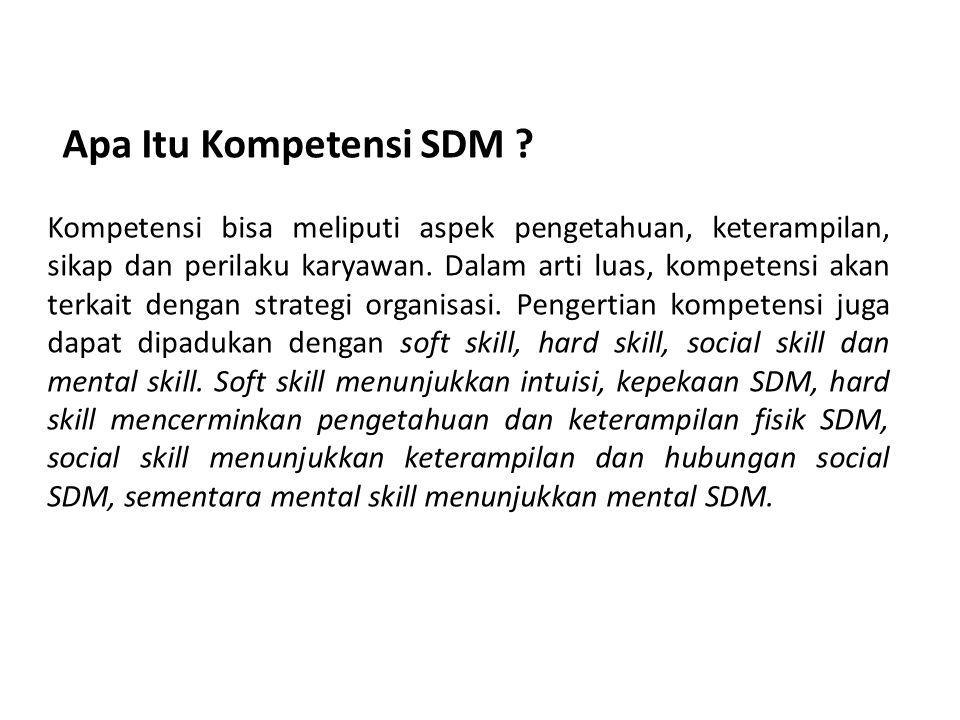 Kompetensi bisa meliputi aspek pengetahuan, keterampilan, sikap dan perilaku karyawan.