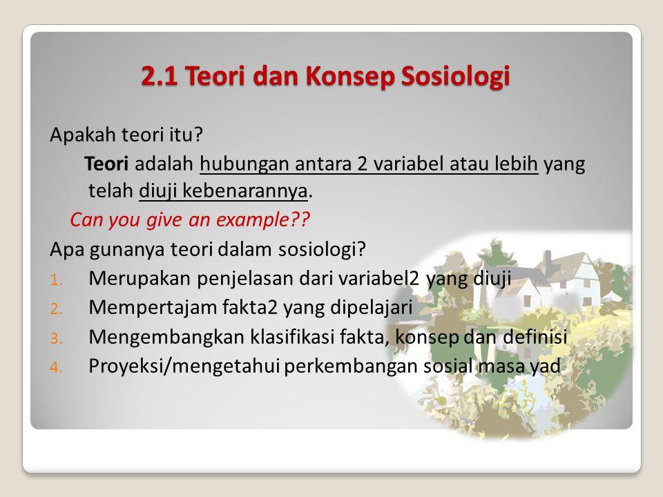 2.1 Teori dan Konsep Sosiologi Apakah teori itu.