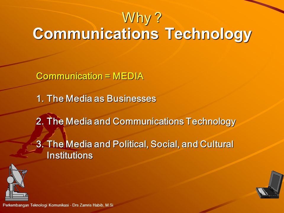 Communications Technology Perkembangan Teknologi Komunikasi - Drs Zamris Habib, M.Si Why .