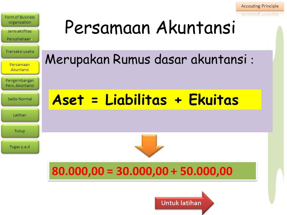 Form of Business organization Form of Business organization Jenis aktifitas Perushahaan.