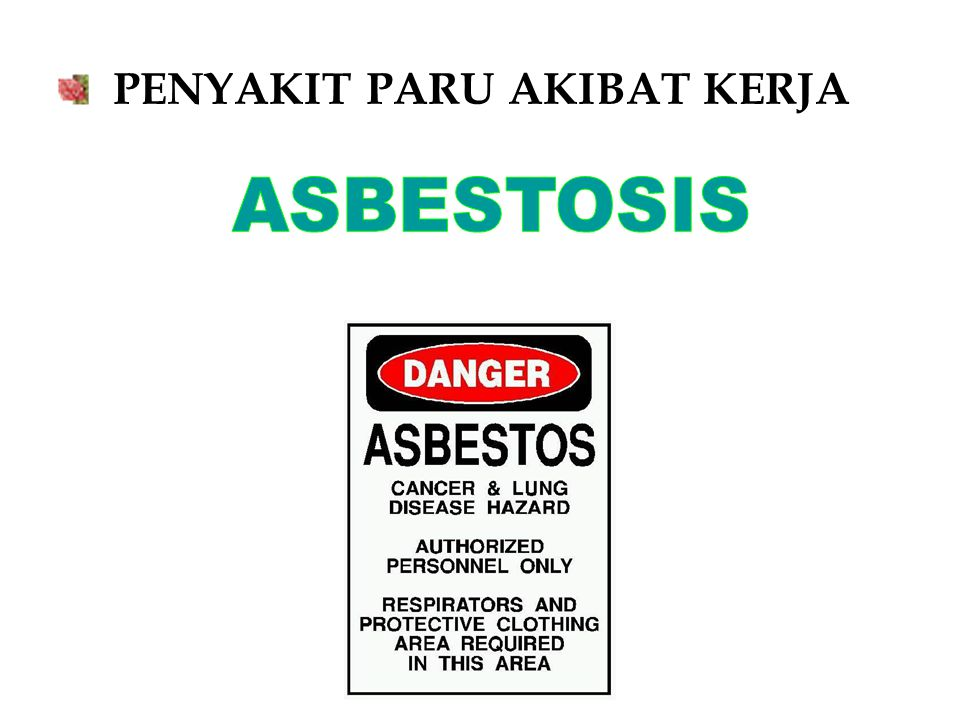 Asbestosis & Asbestos exposure The most pervasive OLD Greatest impact on morbidity and mortality In 1990 – 40,000 workers directly exposed In 1990 – 3-5 million individuals indirectly exposed.