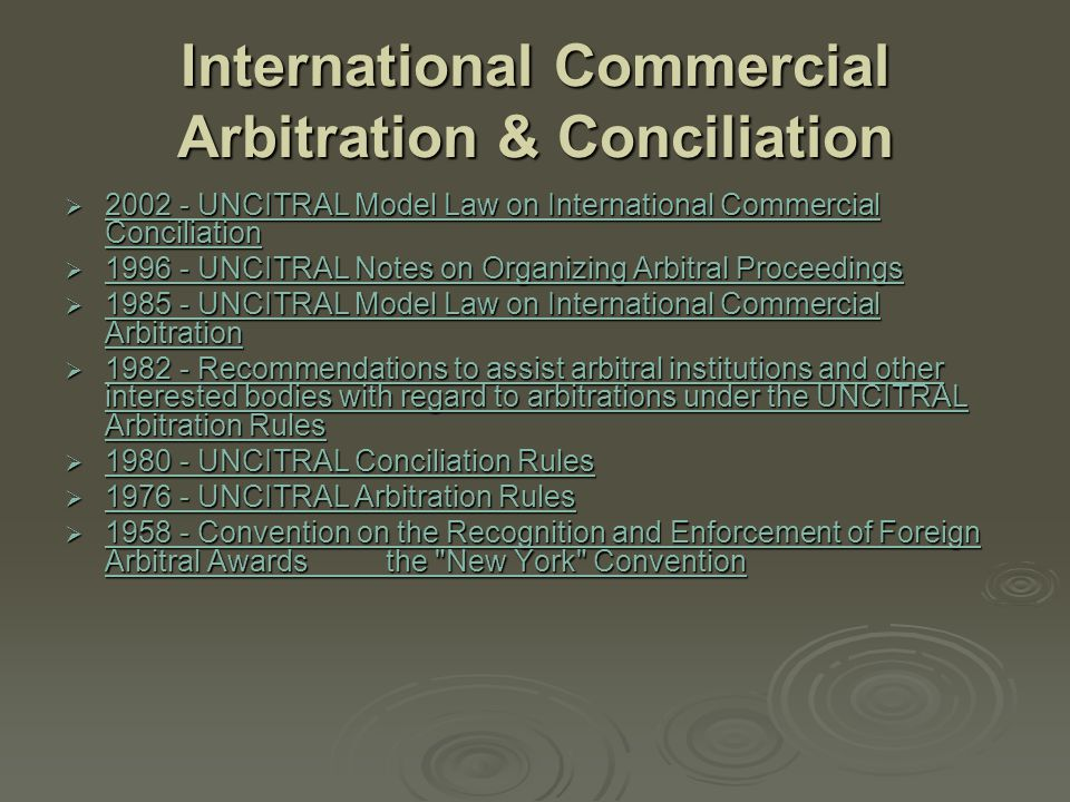 International Sale of Goods (CISG) and Related Transactions  1992 - UNCITRAL Legal Guide on International Countertrade Transactions 1992 - UNCITRAL Legal Guide on International Countertrade Transactions 1992 - UNCITRAL Legal Guide on International Countertrade Transactions  1983 - Uniform Rules on Contract Clauses for an Agreed Sum Due upon Failure of Performance 1983 - Uniform Rules on Contract Clauses for an Agreed Sum Due upon Failure of Performance 1983 - Uniform Rules on Contract Clauses for an Agreed Sum Due upon Failure of Performance  1980 - United Nations Convention on Contracts for the International Sale of Goods (CISG) 1980 - United Nations Convention on Contracts for the International Sale of Goods (CISG) 1980 - United Nations Convention on Contracts for the International Sale of Goods (CISG)  1974 - Convention on the Limitation Period in the International Sale of Goods 1974 - Convention on the Limitation Period in the International Sale of Goods 1974 - Convention on the Limitation Period in the International Sale of Goods