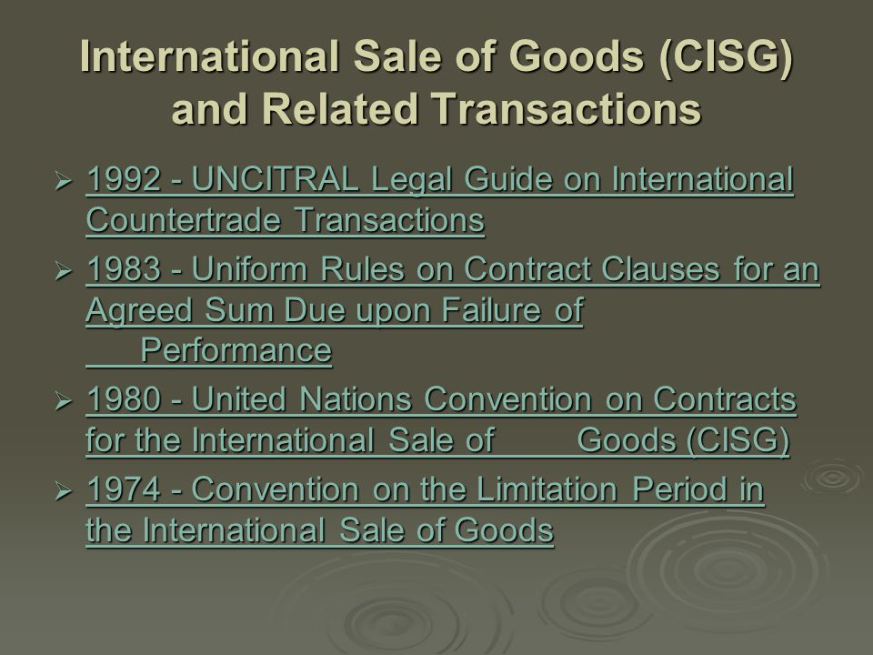 Security Interests  Draft Legislative Guide on Secured Transactions Draft Legislative Guide on Secured Transactions Draft Legislative Guide on Secured Transactions  2001 - United Nations Convention on the Assignment of Receivables in International Trade 2001 - United Nations Convention on the Assignment of Receivables in International Trade 2001 - United Nations Convention on the Assignment of Receivables in International Trade