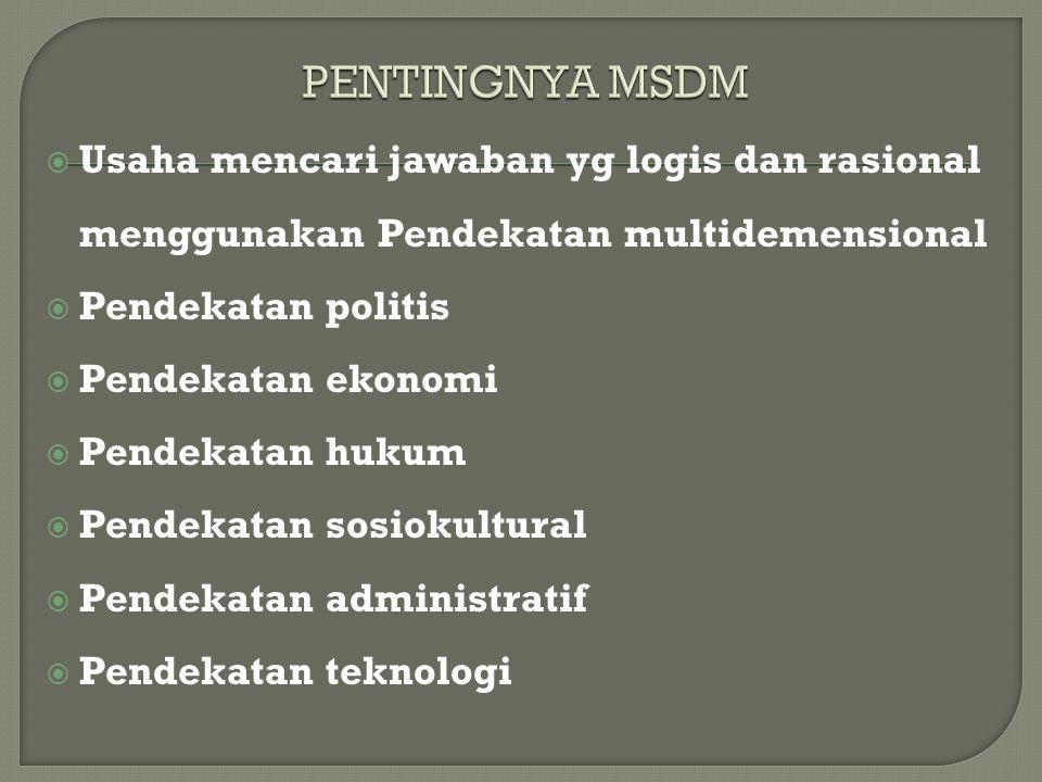  Usaha mencari jawaban yg logis dan rasional menggunakan Pendekatan multidemensional  Pendekatan politis  Pendekatan ekonomi  Pendekatan hukum  P