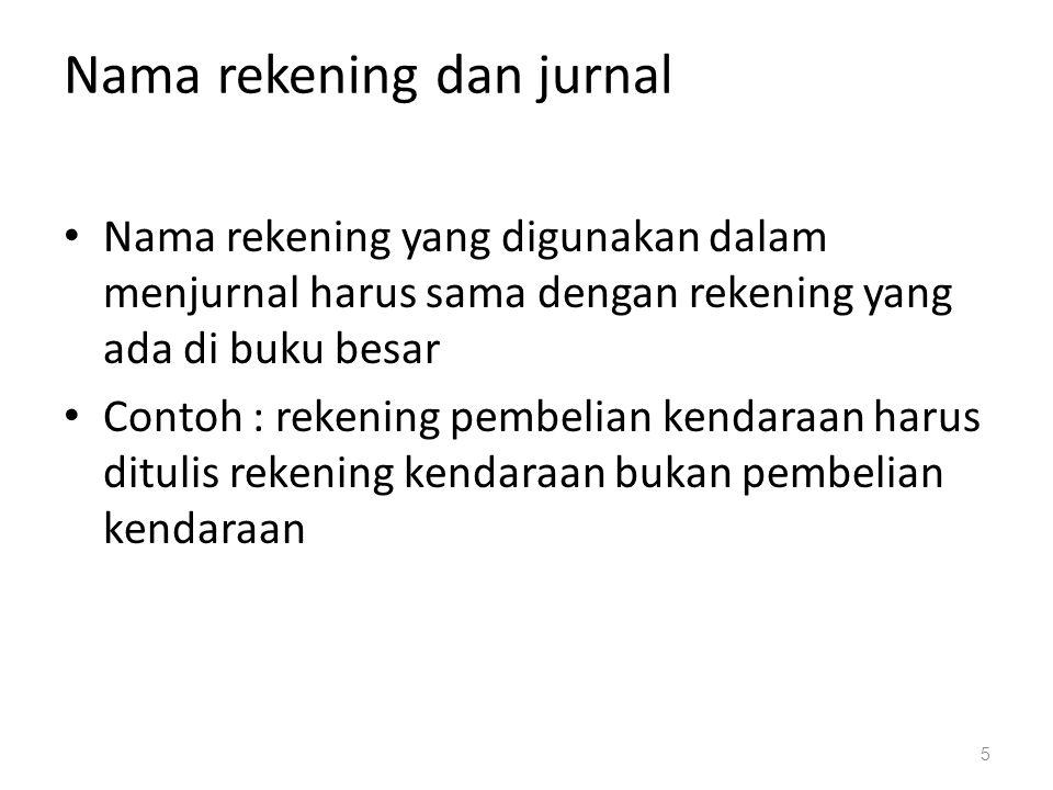Contoh Jurnal Tanggal (1) Nama Rekening dan Keterangan (2) Nomor Rekening (3) Jumlah Debet (4) Kredit (5) 2012 Juli 1Kas Modal, Tn X Modal, Tn X (Setoran modal dari Tn.