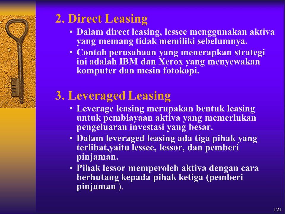 122 Tujuan dari strategi leasing ini adalah: 1.