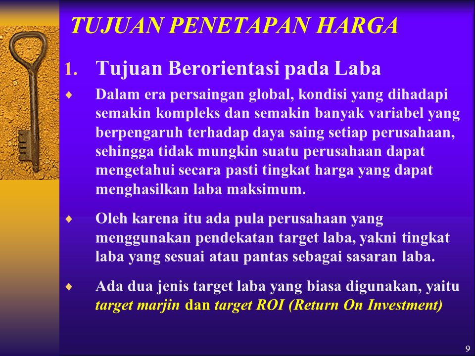 10 TUJUAN PENETAPAN HARGA 2.