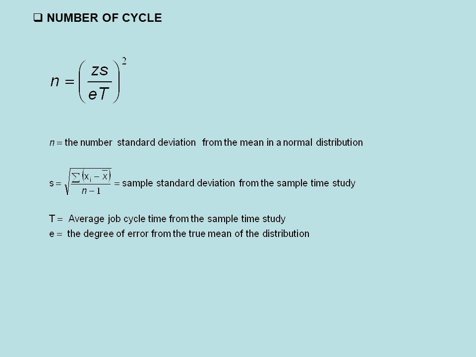  NUMBER OF CYCLE