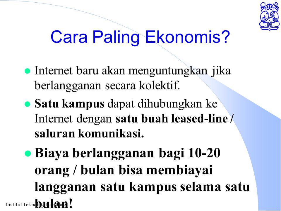 Institut Teknologi Bandung Cara Paling Ekonomis.
