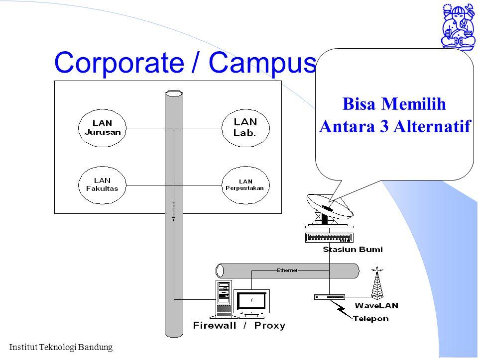 Institut Teknologi Bandung Corporate / Campus Internet Bisa Memilih Antara 3 Alternatif