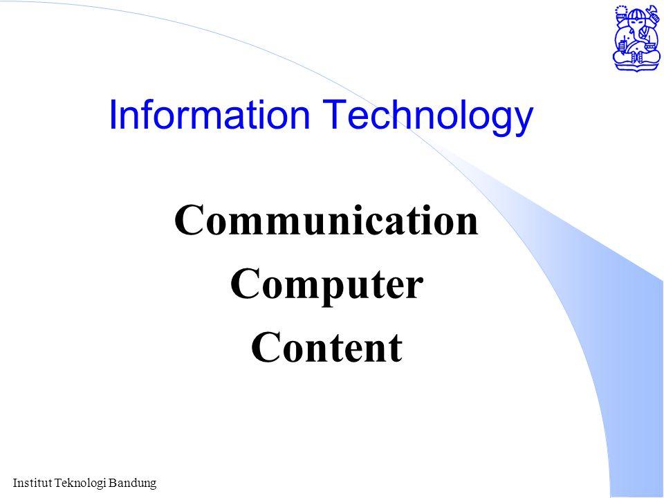 Institut Teknologi Bandung Information Technology Communication Computer Content