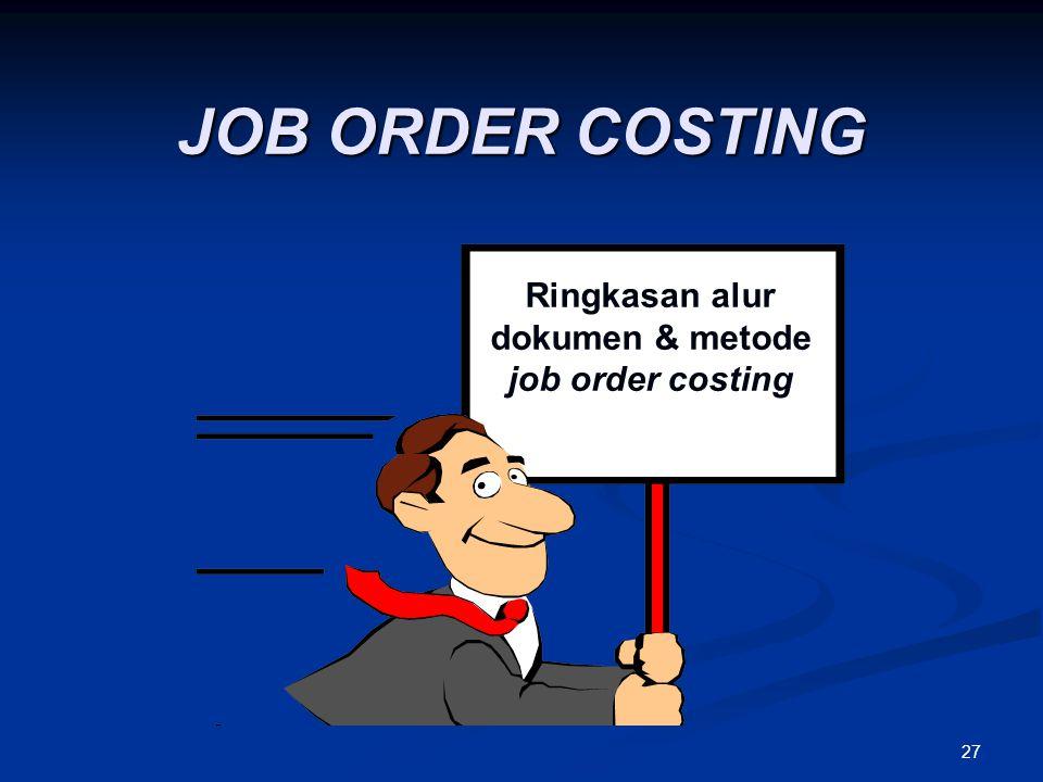 27 Ringkasan alur dokumen & metode job order costing JOB ORDER COSTING