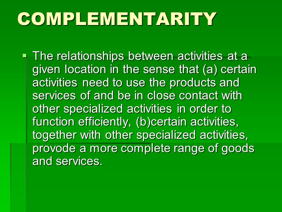 TRANSFERABILITY.The degree to which a good or services may be transported.