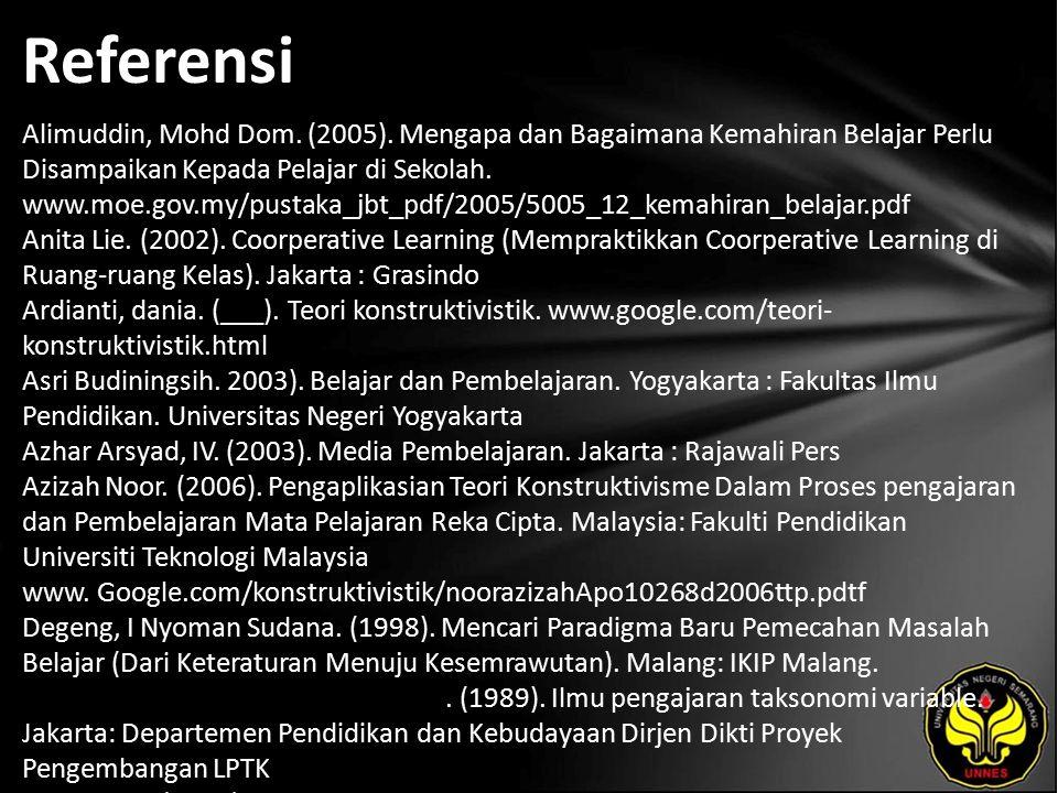 Referensi Alimuddin, Mohd Dom. (2005).