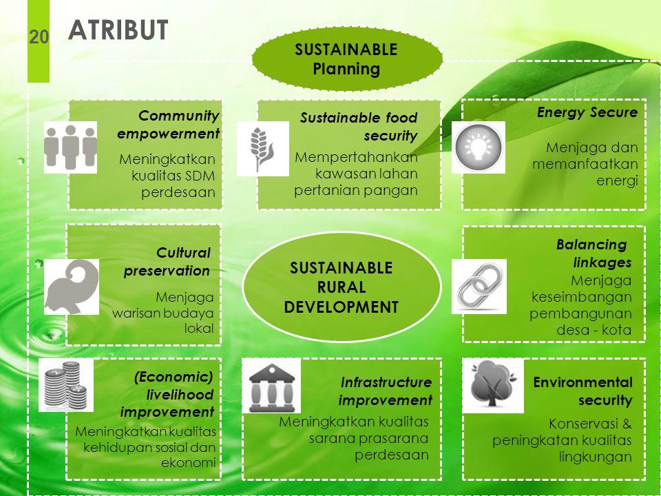 Sustainable food security Mempertahankan kawasan lahan pertanian pangan Balancing linkages Menjaga keseimbangan pembangunan desa - kota Infrastructure