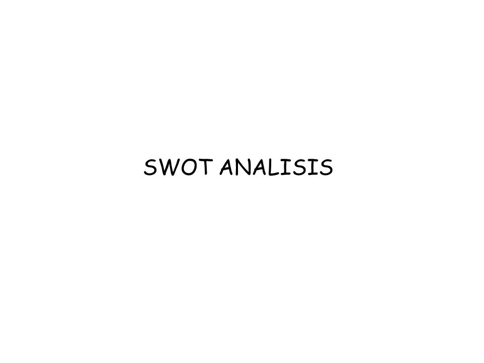 SWOT ANALISIS