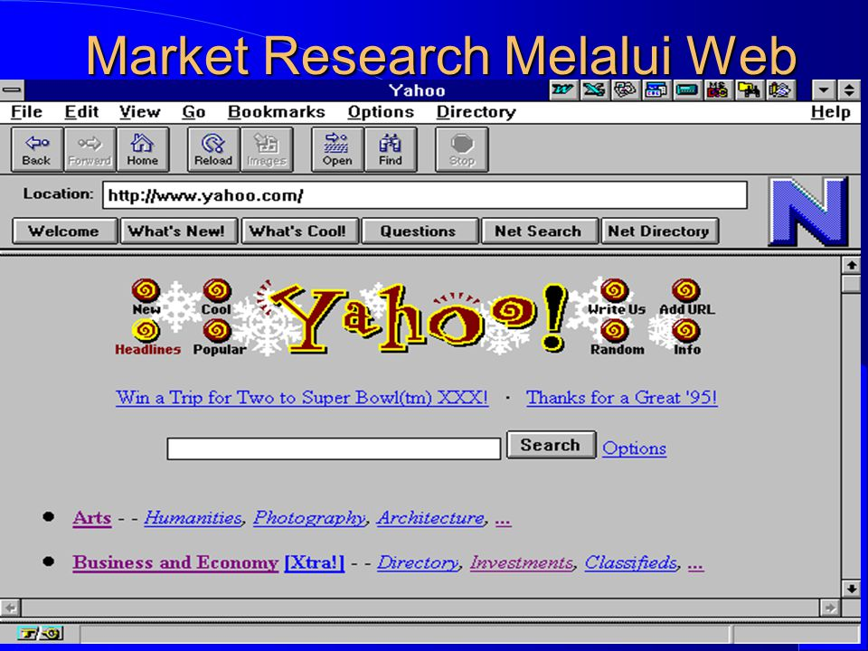 Computer Network Research Group ITB Market Research Melalui Web