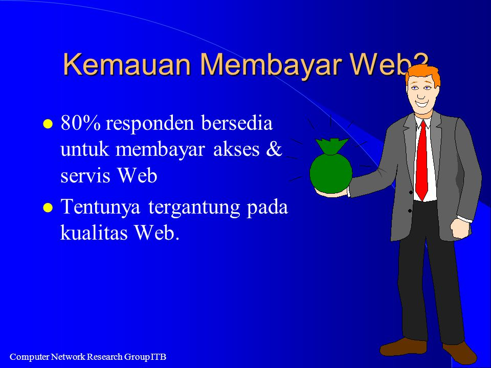 Computer Network Research Group ITB Kemauan Membayar Web.