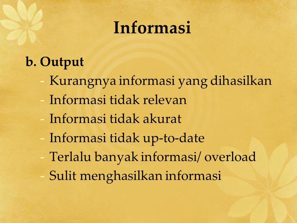 Informasi b.