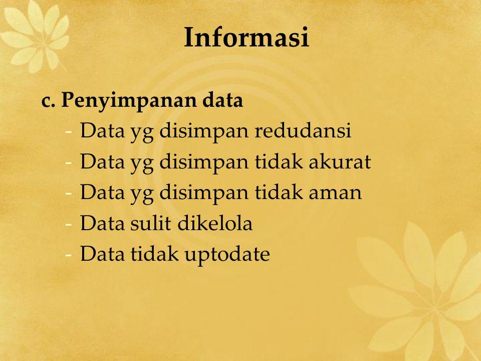 Informasi c.