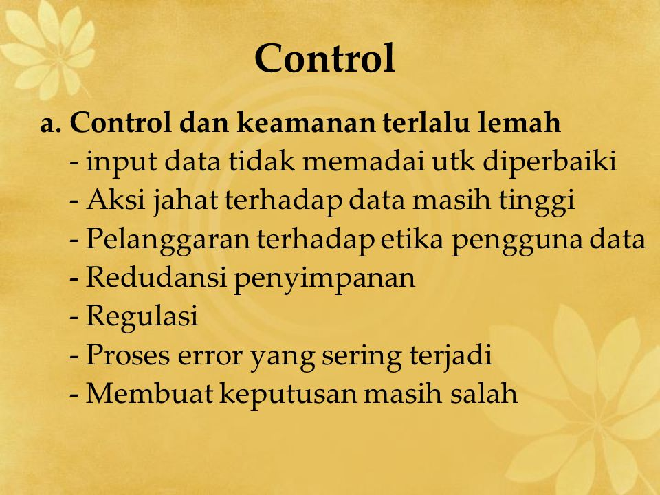 Control a.