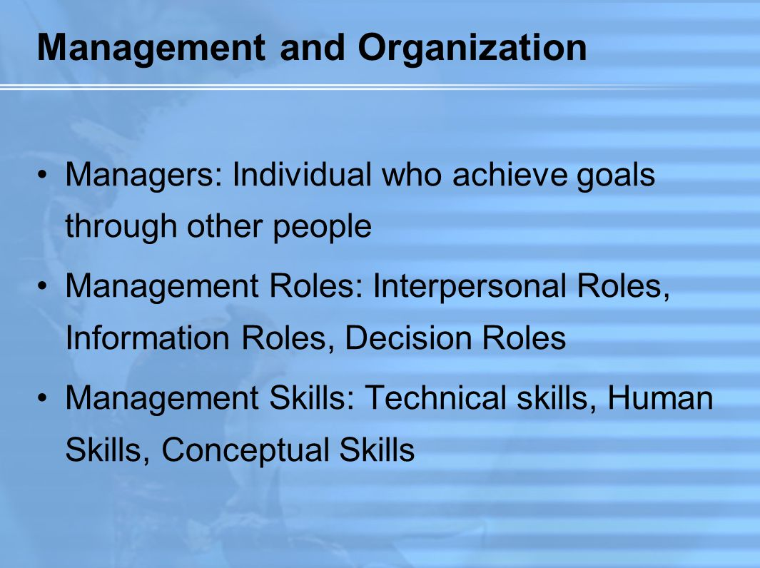 Organization Behavior (OB) A field of study that investigates the impact that individuals, groups and structure have on behavior within organizations, for the purposes of applying such knowledge toward improving an organization's effectiveness (Robbins, 1993)