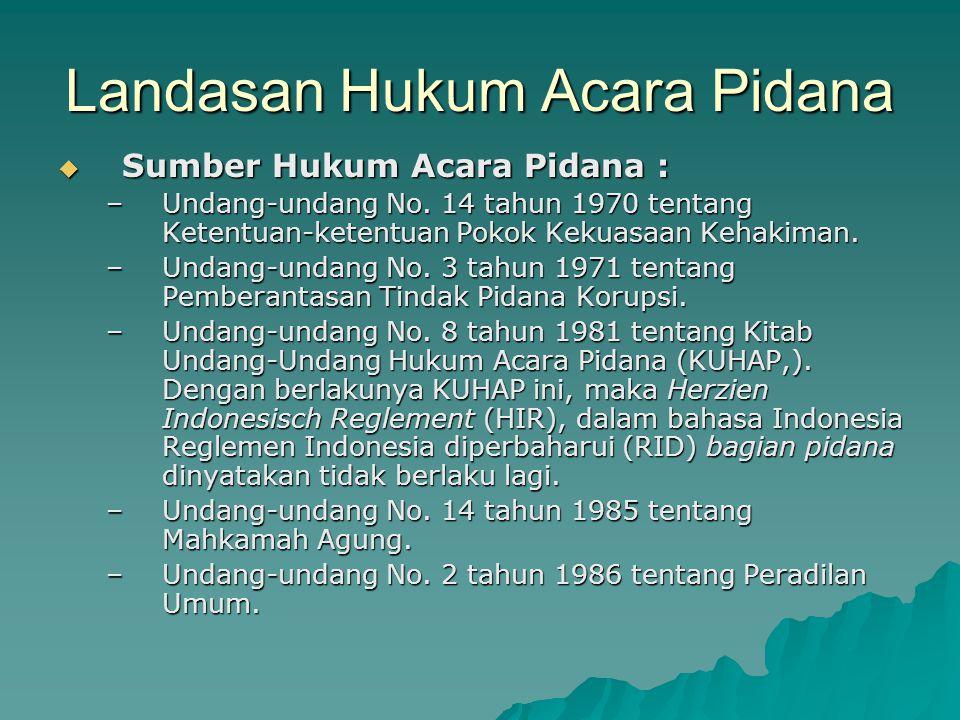 CIRI-CIRI KARAKTERISTIK HUKUM ACARA DI PTUN Ciri utama yang membedakan Hukum Acara Peradilan Tata Usaha Negara di Indonesia dengan Hukum Acara Perdata atau Hukum Acara Pidana adalah Hukum Acaranya secara bersama-sama diatur dengan hukum materielnya yaitu dalam Undang Undang Nomor 5 Tahun 1986.