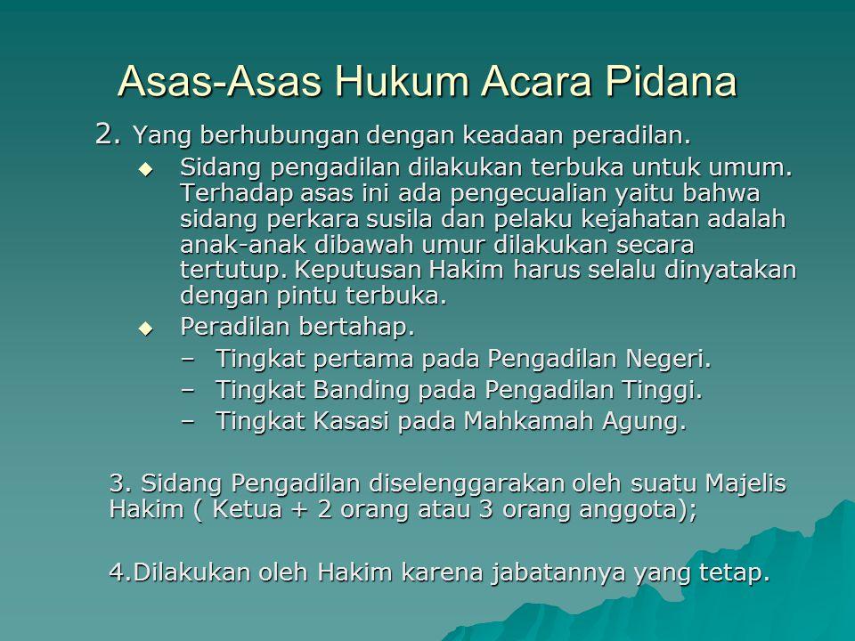 Asas-asas dalam Hukum Acara Perdata 2.