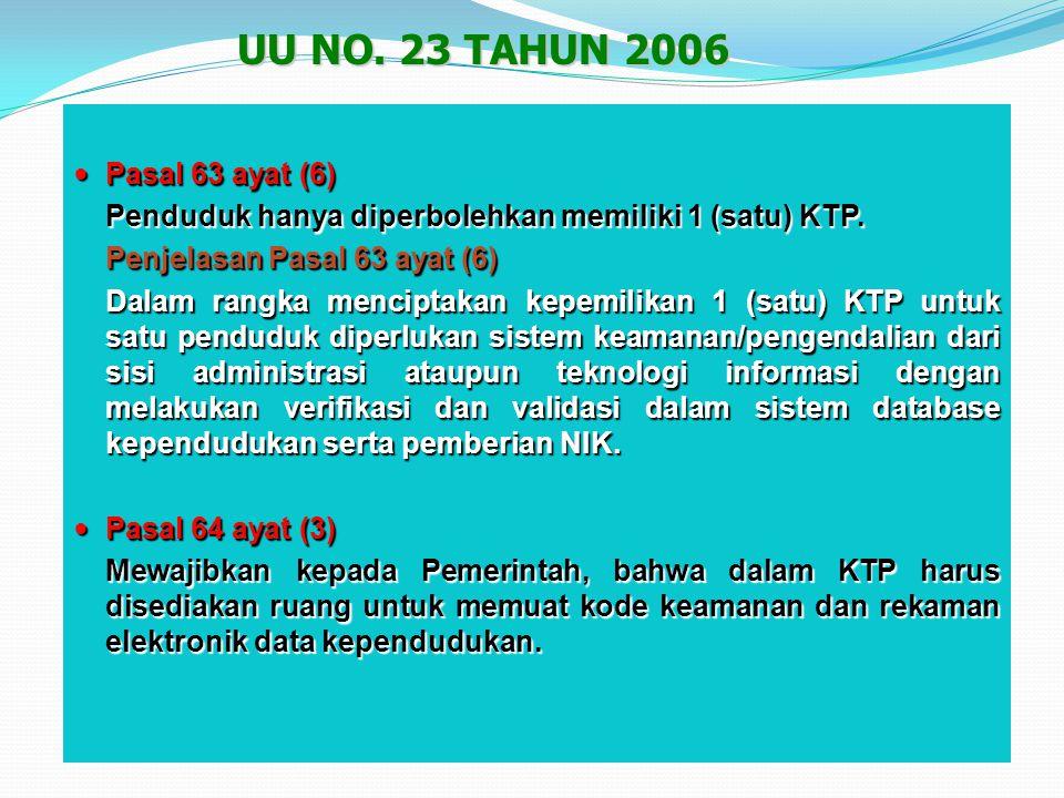 Pasal 101 huruf a, huruf b dan huruf e Pasal 101 huruf a, huruf b dan huruf e  Memerintahkan kepada Pemerintah untuk memberikan NIK kepada setiap pen