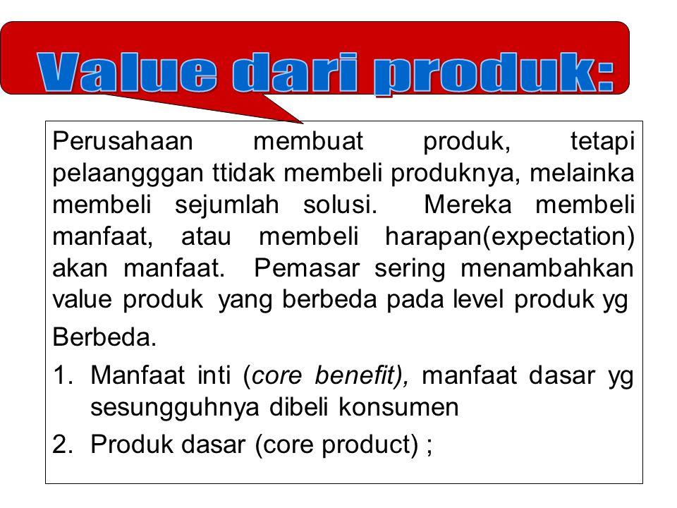 Perusahaan membuat produk, tetapi pelaangggan ttidak membeli produknya, melainka membeli sejumlah solusi.