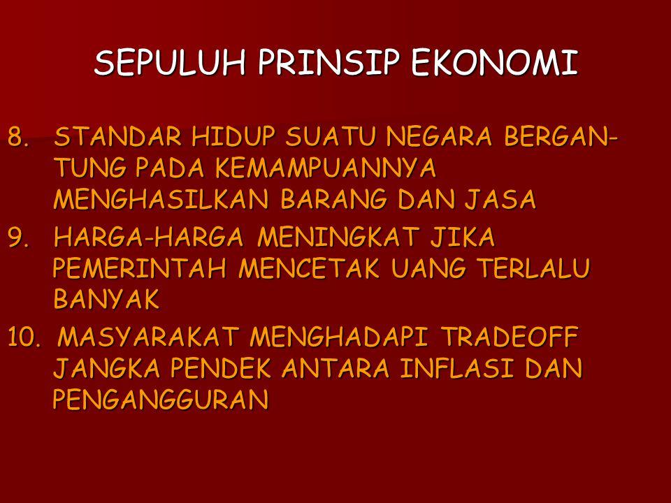SEPULUH PRINSIP EKONOMI 8.