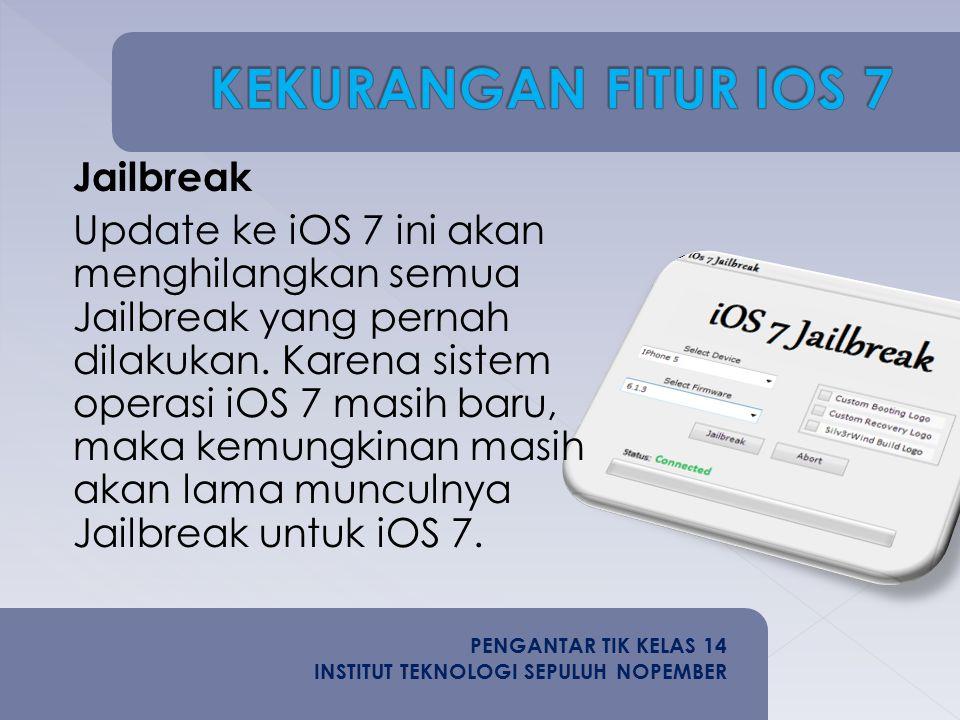 Jailbreak Update ke iOS 7 ini akan menghilangkan semua Jailbreak yang pernah dilakukan.
