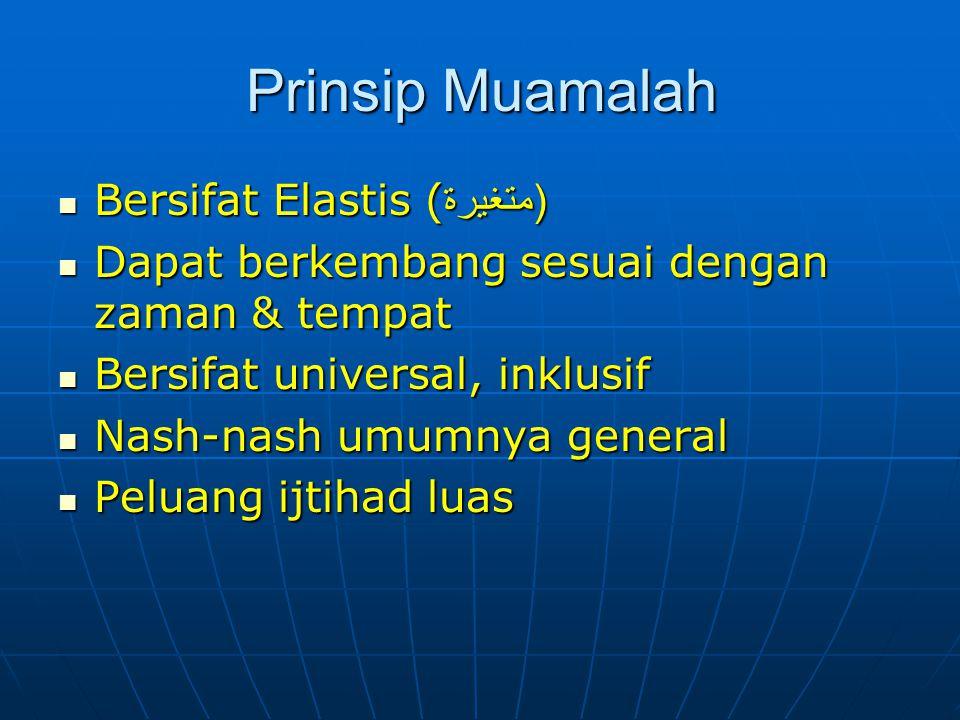 PRINSIP IBADAH 1.Bersifat Tetap (Tsabitah) 1. Bersifat Tetap (Tsabitah) 2.