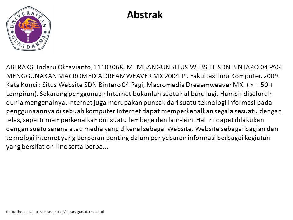 Abstrak ABTRAKSI Indaru Oktavianto, 11103068.