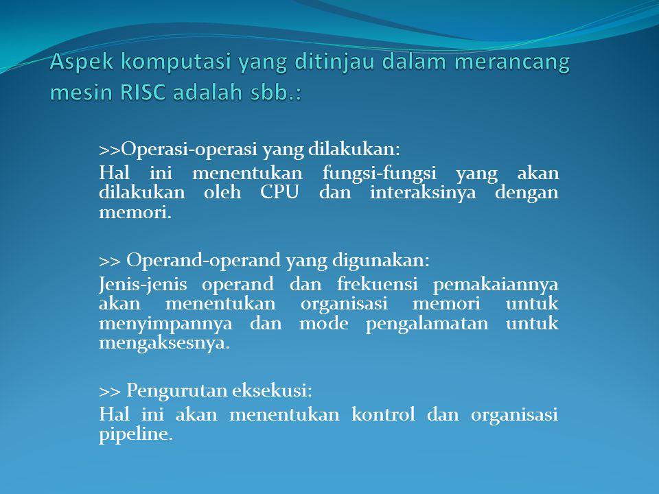 CISC dan RISC perbedaannya tidak signifikan jika hanya dilihat dari terminologi set instruksinya yang kompleks atau tidak (reduced).