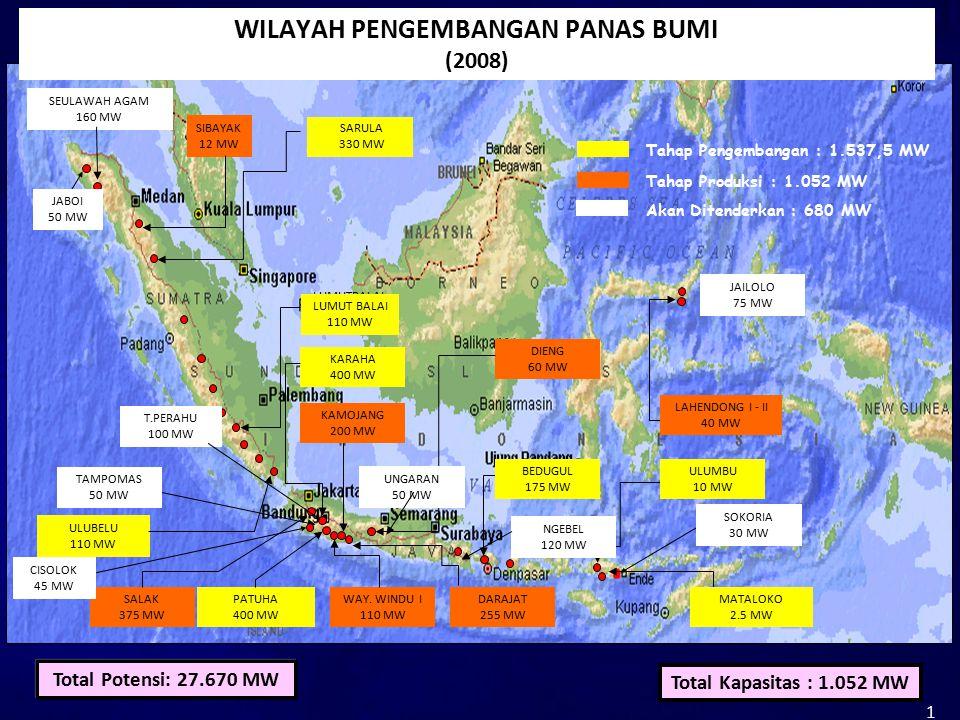 SALAK 375 MW DARAJAT 255 MW WAY.