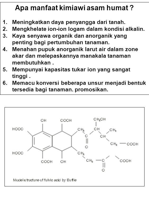 IKATAN FOSFAT DAN HUMIK Interaksi kimiawi antara bahan organik tanah dengan anion orthophosphate (phosphate [P]) mempunyai peranan penting bagi reaksi-reaksi P pada fase padatan tanah dan larutan tanah.