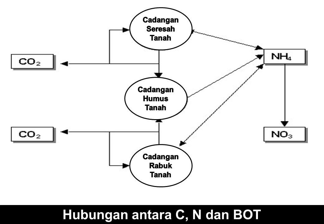 Hubungan antara C, N dan BOT