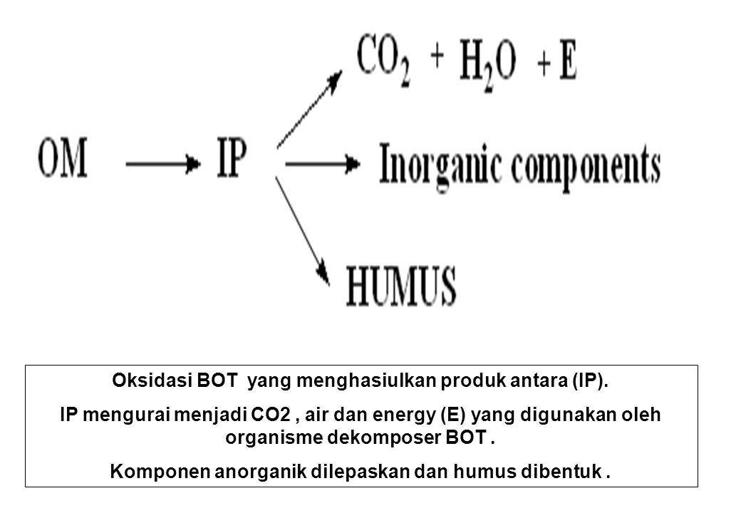 Oksidasi BOT yang menghasiulkan produk antara (IP).