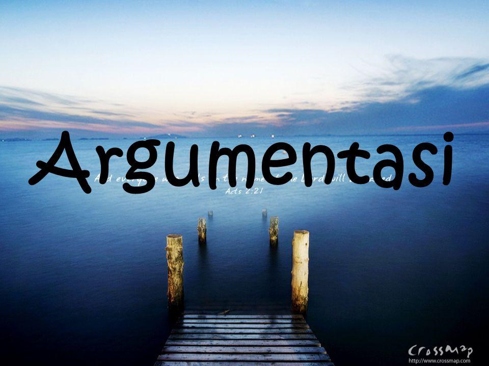 Arti Paragaf yang berisi/ menyampaikan alasan yang digunakan untuk memperkuat opini